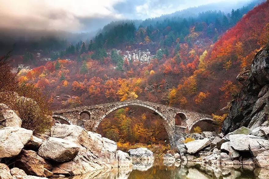 Мост Отоман в горах Родопы, Болгария