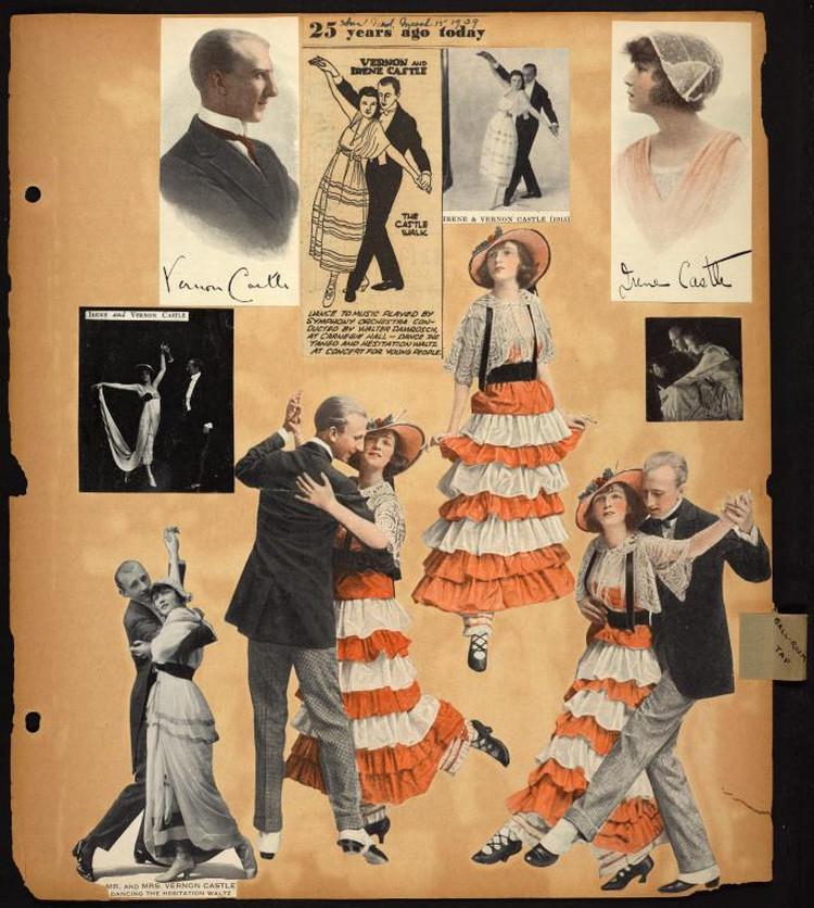 Самая большая коллекция старинных танцевальных снимков