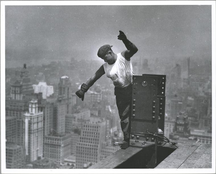 Как строили Эмпайр Стэйт Билдинг: отвага и бесстрашие рабочих на архивных снимках