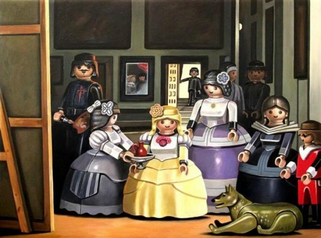 Что если бы герои Лего картин появились в картинах?