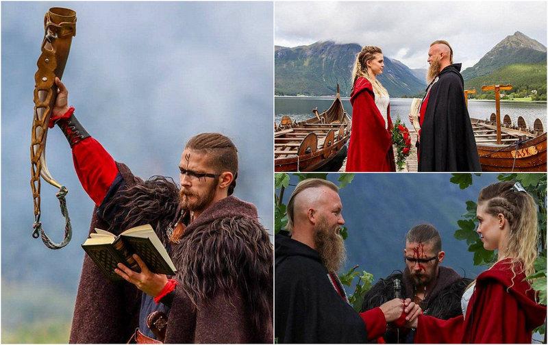 Дань прошлому: свадьба в стиле викингов