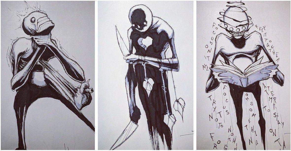 «Лицо» психических заболеваний в работах художника Шона Косса