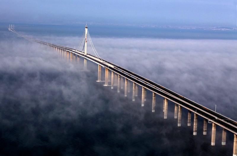 Мост Гонконг – Чжухай – Макао (Китай) — 55 км