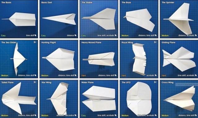 Видео-уроки по созданию бумажных самолетиков на любой вкус