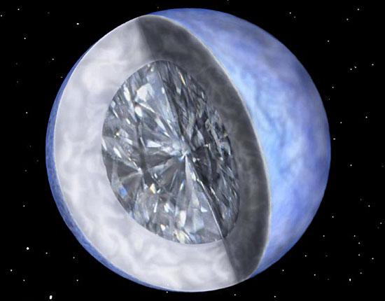 Обнаружен самый большой бриллиант во Вселенной
