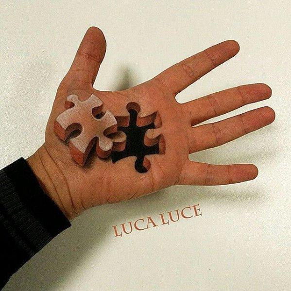Гиперреалистичные картины на руке от итальянского художника