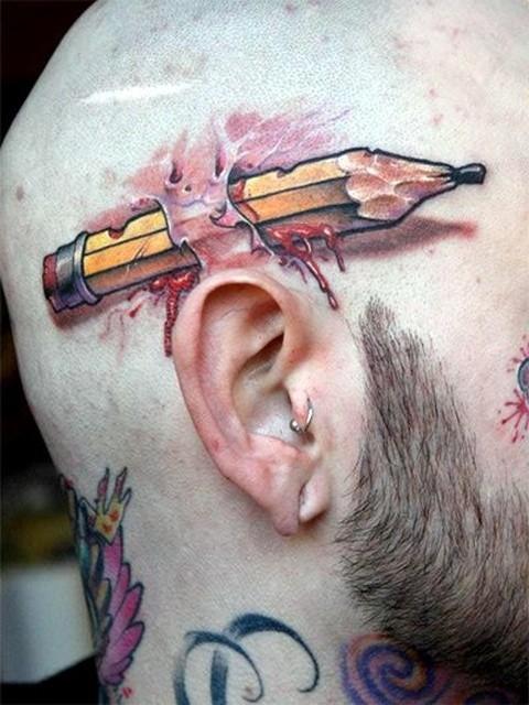 Лучшие оптические иллюзии объемных татуировок
