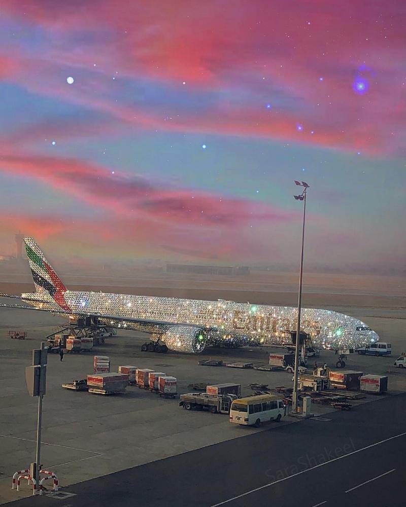 «Бриллиантовый» самолет Emirates восхитил Интернет (3)