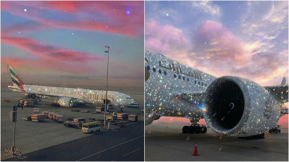 «Бриллиантовый» самолет Emirates восхитил Интернет (4)