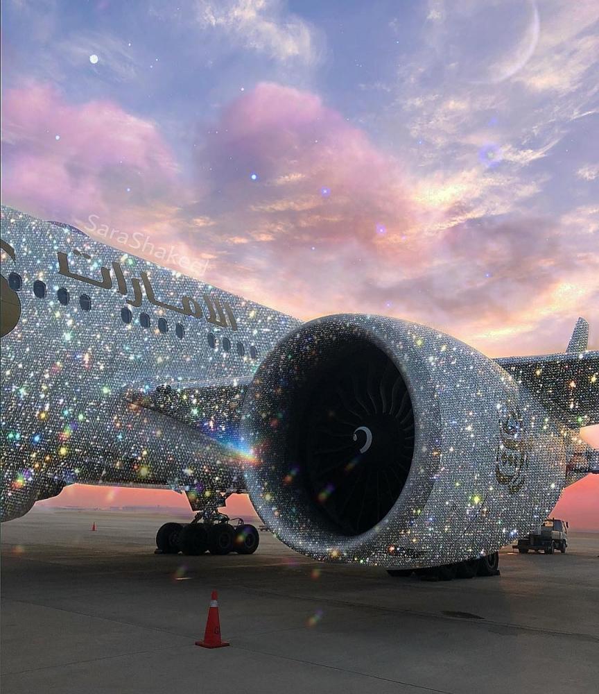 «Бриллиантовый» самолет Emirates восхитил Интернет (5)