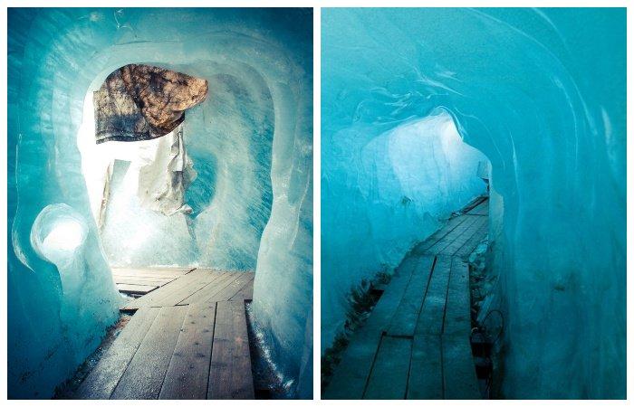 Катаклизмы природы_ Тающий ледник в швейцарских Альпах стал причиной закрытия старинного отеля (6)