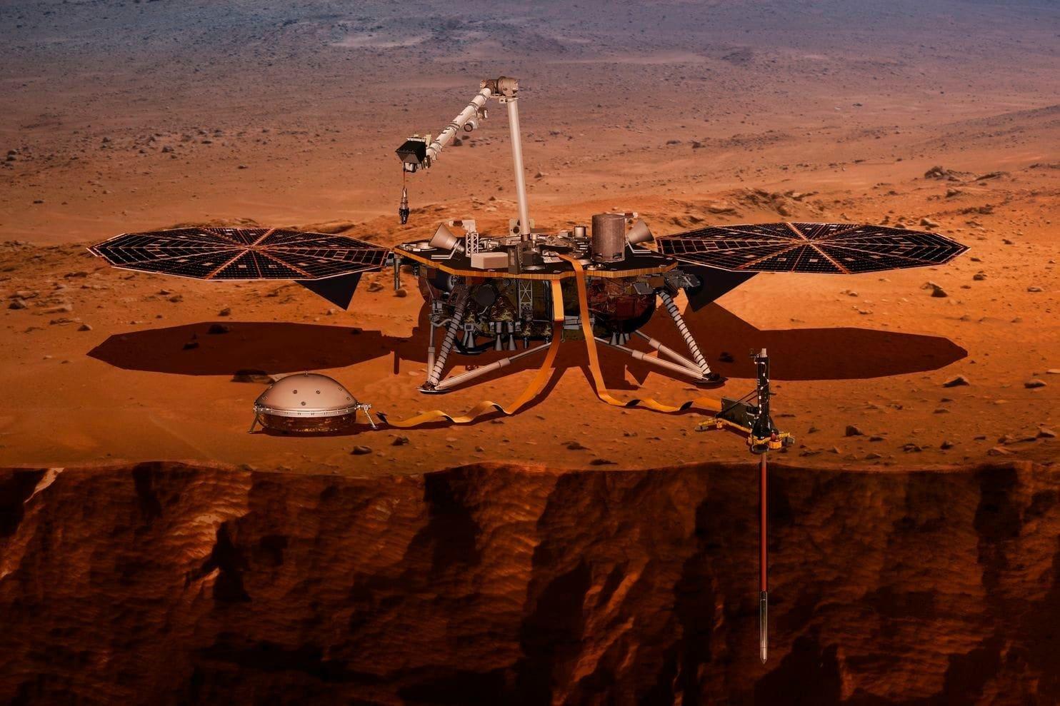 Опубликованы первые фотографии с поверхности Марса (4)