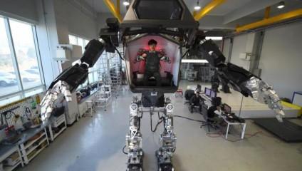 Роботы стали реальностью: в Южной Корее создали 4-метрового ходящего робота