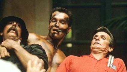 Редкие кадры со съемок фильма «Коммандо»