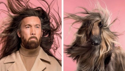 Поразительное сходство: фотосессия собак и их хозяев