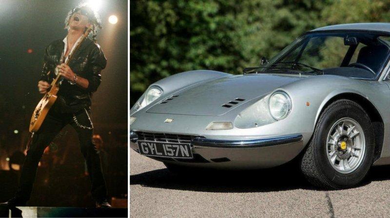 Раритетный Ferrari Dino 246GT гитариста группы The Rolling Stones: фото