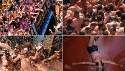 Томатная битва в Испании: фоторепортаж