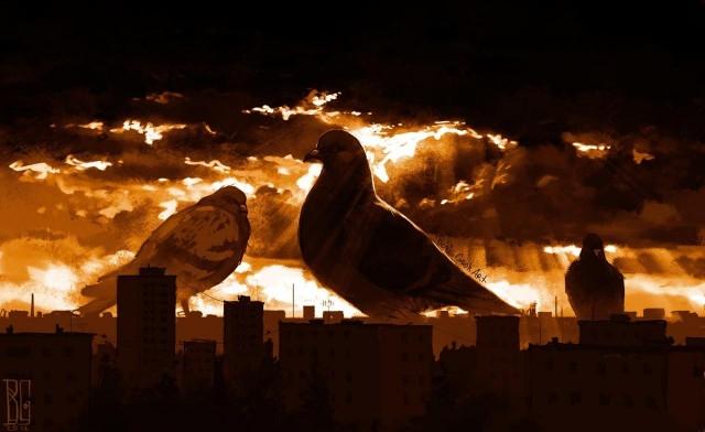 Иллюстрации повседневных городов_ наполненные атмосферой страха (11 рисунков) (3)