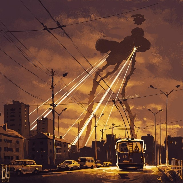 Иллюстрации повседневных городов_ наполненные атмосферой страха (11 рисунков)