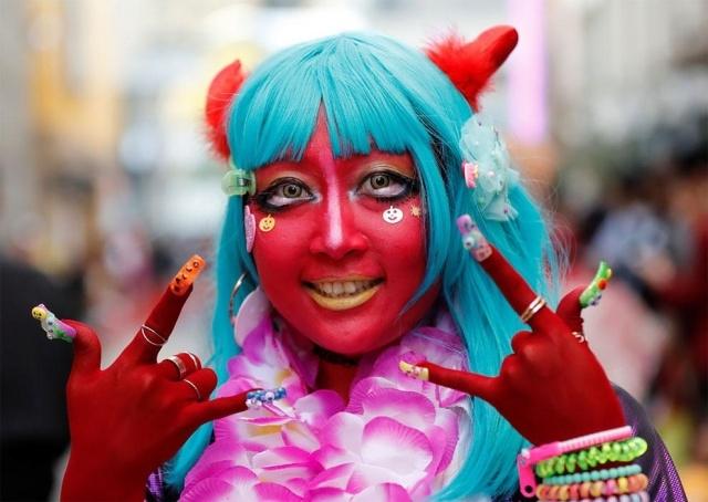 Парад в честь Хэллоуина в Японии (17 фото) (9)
