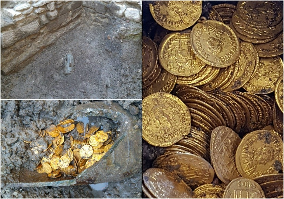 Под итальянским театром найдены золотые монеты 5_го века стоимостью в миллионы евро (3)