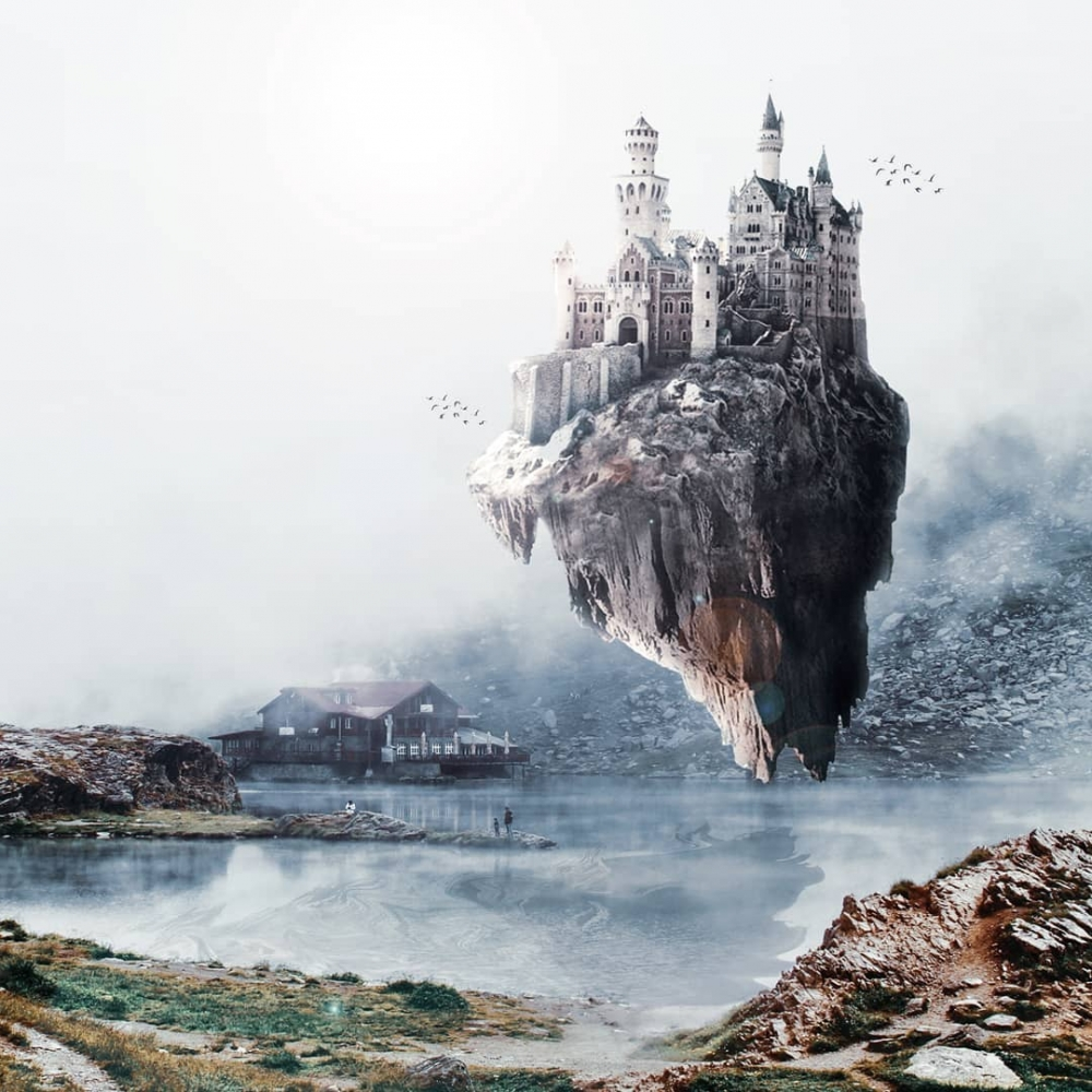 Там, где нет гравитации: фантастические работы цифрового художника Диого Сампайо