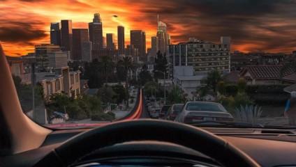 Красочные городские пейзажи Лос-Анджелеса фотографа Нейта Кэрролла