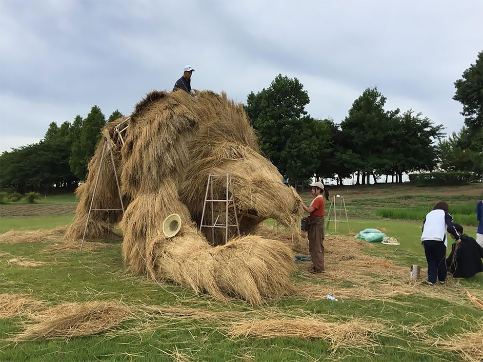 Wara Art Festival в Японии (10)