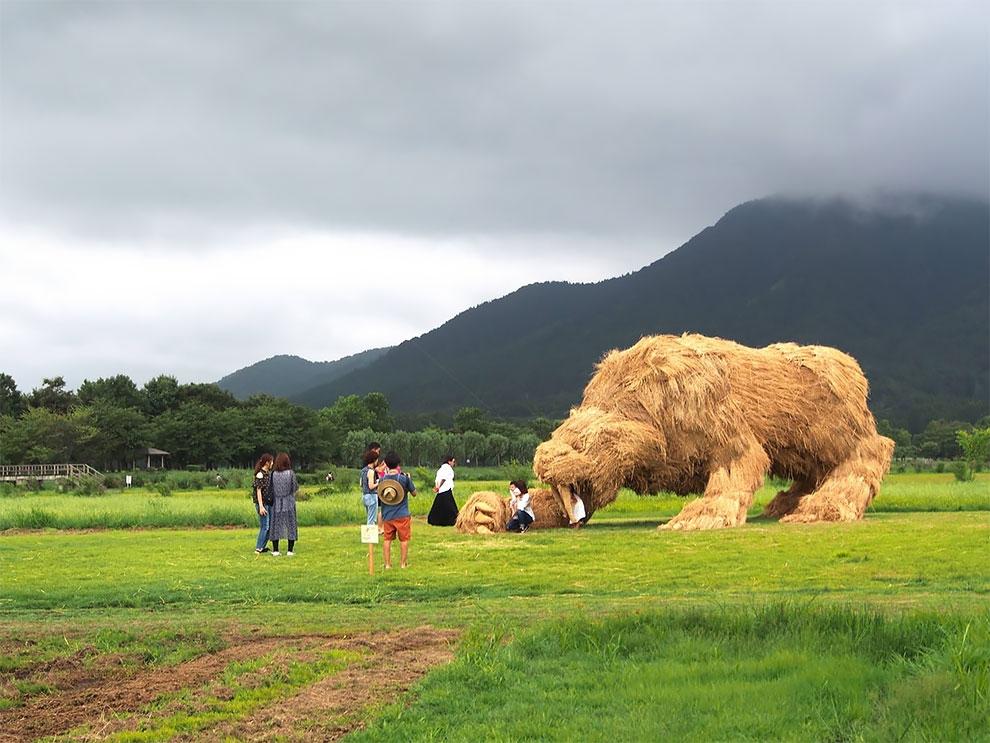 Wara Art Festival в Японии (2)