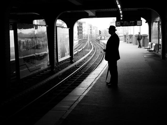 На вокзале. Автор: Thomas Leuthard.