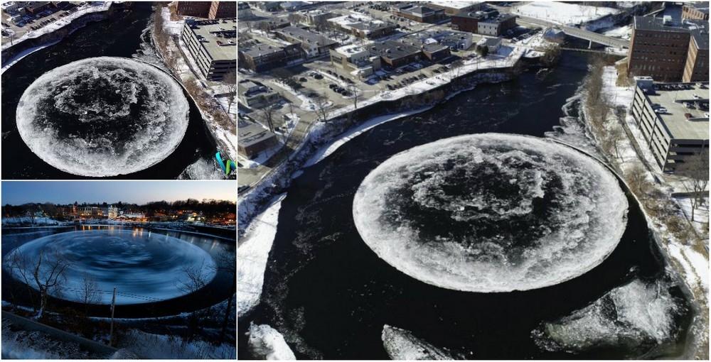 90_метровый ледяной вращающийся диск в американской реке (1)