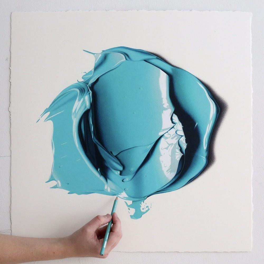 Эти большие мазки краски на самом деле рисунки карандашом (3)