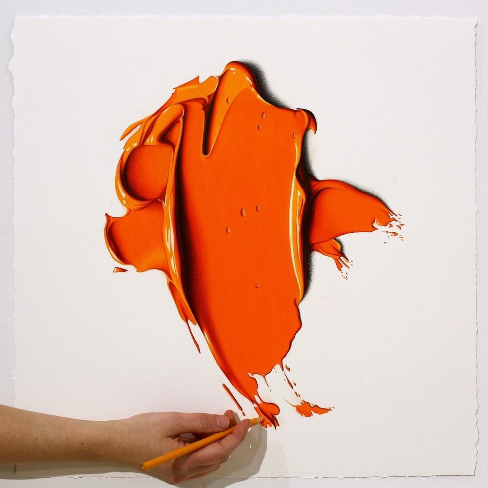Эти большие мазки краски на самом деле рисунки карандашом (7)