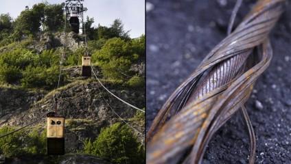 Действующая канатная дорога середины ХХ века: фотографии из Грузии