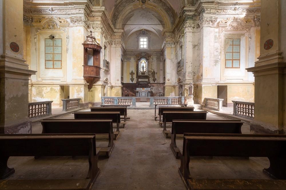 Красивые заброшенные здания Италии (7)