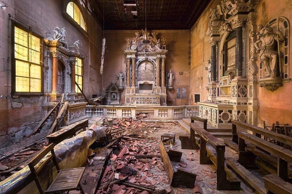 Красивые заброшенные здания Италии (9)