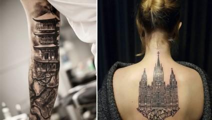 Архитектура и тату: лучшие работы на человеческом теле