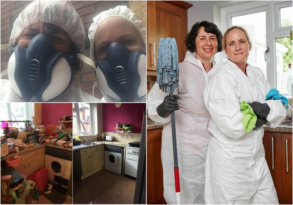 Экстремальная уборка: две сестры опубликовали шокирующие фотографии своей работы