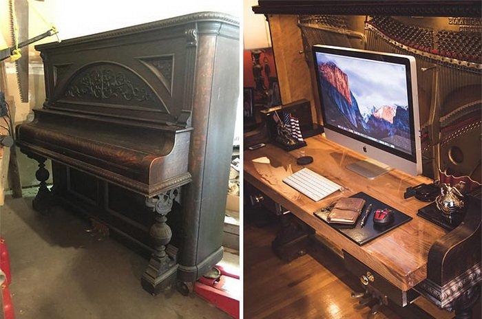 100_летнее пианино превратили в рабочий стол класса люкс