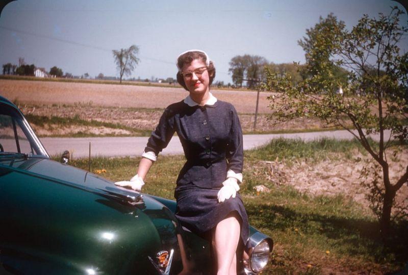 Американцы и их стильные автомобили в 50_е годы (15)