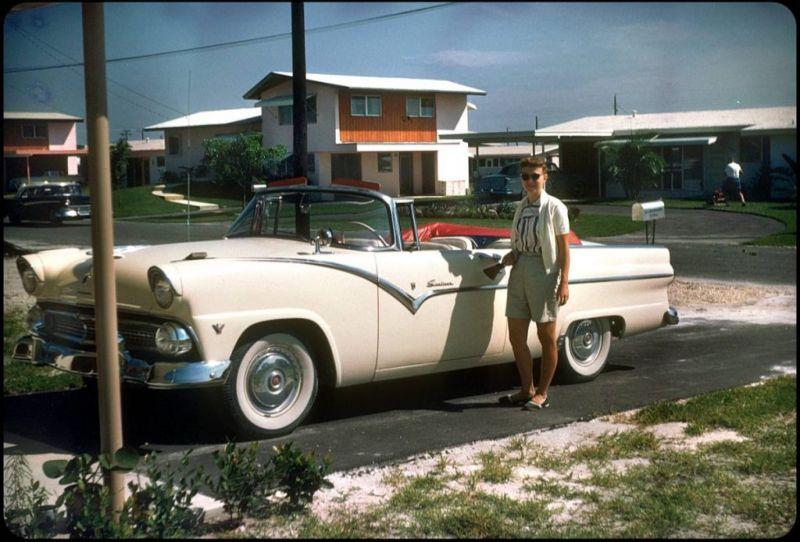 Американцы и их стильные автомобили в 50_е годы (2)