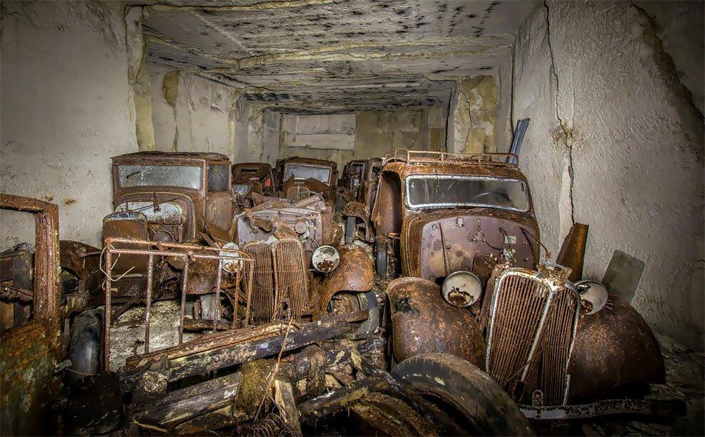 Бельгиец обнаружил кладбище автомобилей времен Второй мировой войны (1)