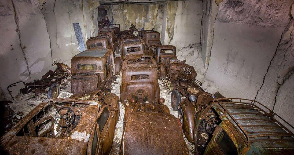 Бельгиец обнаружил кладбище автомобилей времен Второй мировой войны