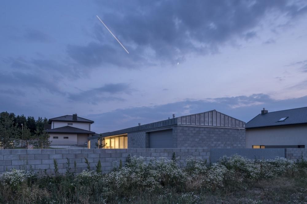 «Бетонный оазис»_ современный одноэтажный особняк в Литве (12)