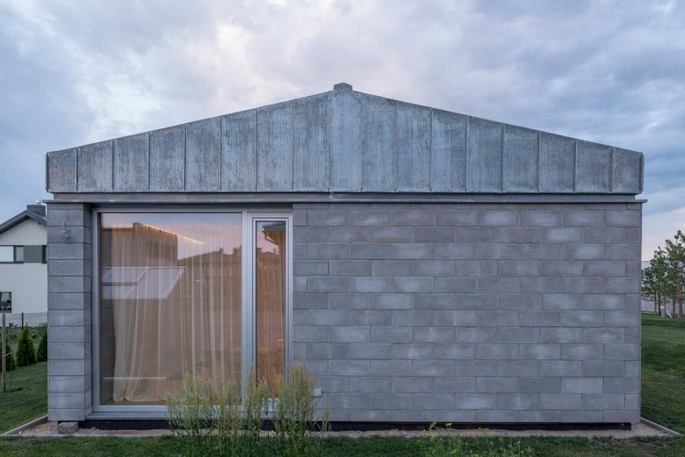 «Бетонный оазис»_ современный одноэтажный особняк в Литве (4)