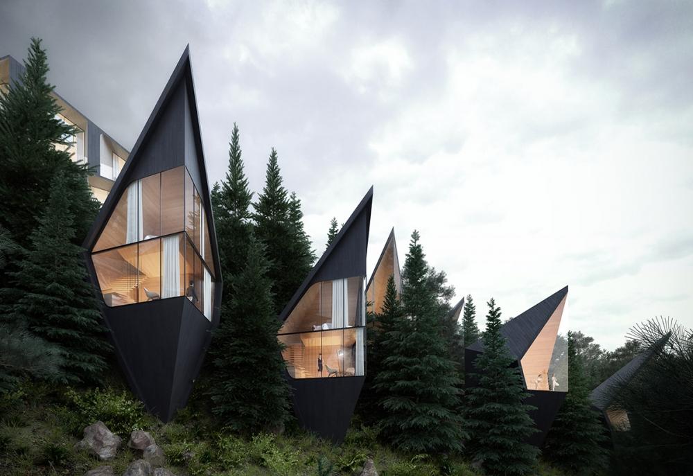 Необычный отель в итальянских Альпах