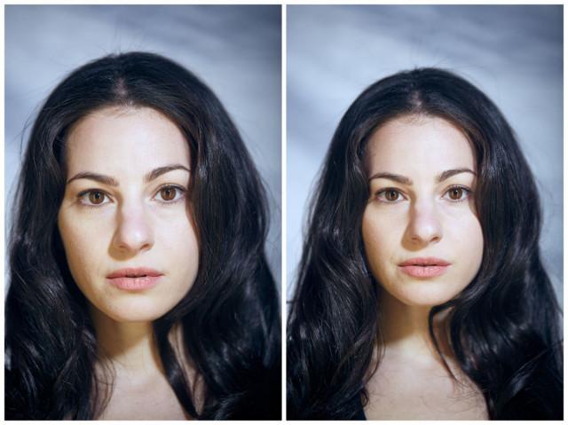 Как отличаются лица людей_ позирующих в одежде и без. Фотопроект Дилана Хэмма