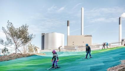 На крыше завода по утилизации отходов в Дании откроют лыжную трассу