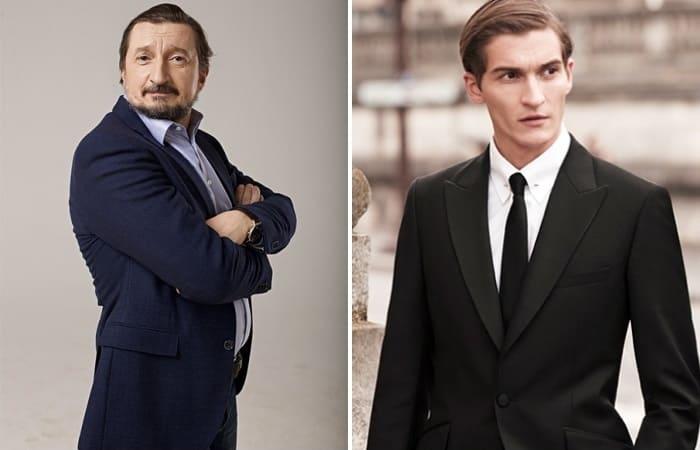 Актер Александр Лыков и его сын, модель Матвей Лыков