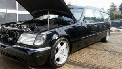 Переделка авто: Mercedes-Benz W140 в катафалк